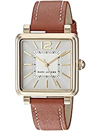 Women's 'Vic' Quartz Stainless Steel and Leather Casual Watch, Color:Brown (Model: MJ1573)
