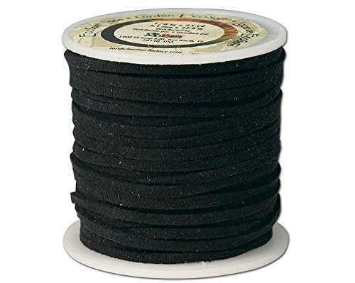 Leather Factory EcoSoft Lace Spool Black, 1/8