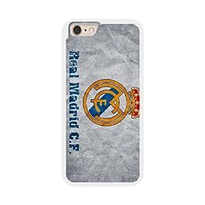 Real Madrid E5W6FD7Y Caso funda iPhone 6 Plus 5.5 pulgadas del teléfono celular blanco