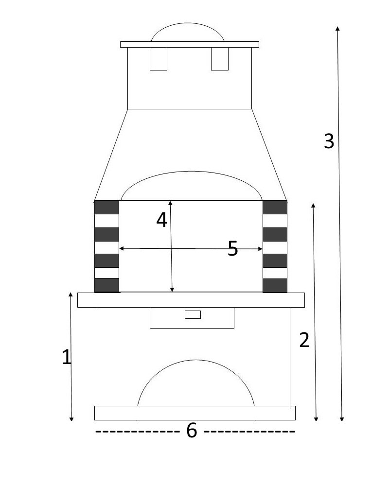 Torino wei/ß-braun Grillkamin