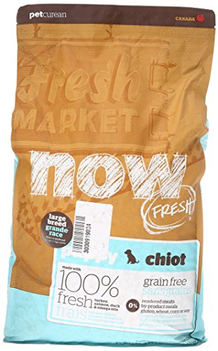 NOW! 152501 Fresh Grain Free Large Breed Puppy Food, 12-Pound Bag