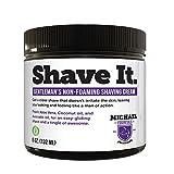 Coconut Oil Shaving Non Foaming Organic Shaving cream- Made with Coconut Oil and Avocado Oil