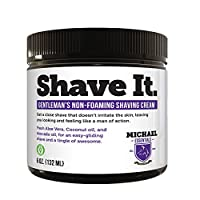 Non Foaming Organic Shaving cream- Made with Coconut Oil and Avocado Oil