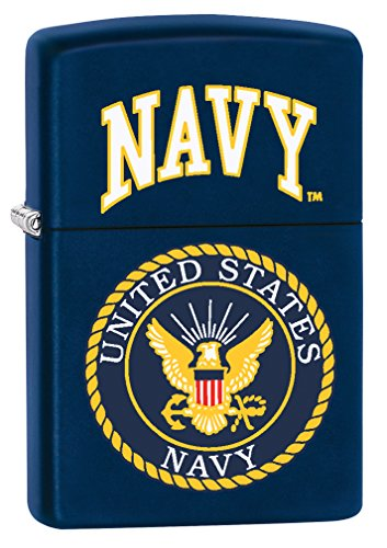 Navy Matte Lighter - Zippo Lighter: United States Navy Logo - Navy Matte 76926