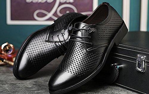 à Hommes LEDLFIE Black pour Chaussures Souliers Formalwear Mode Lacets Chaussures Hommes Cutouts de D'Affaires Casual ggxzBSZwq7
