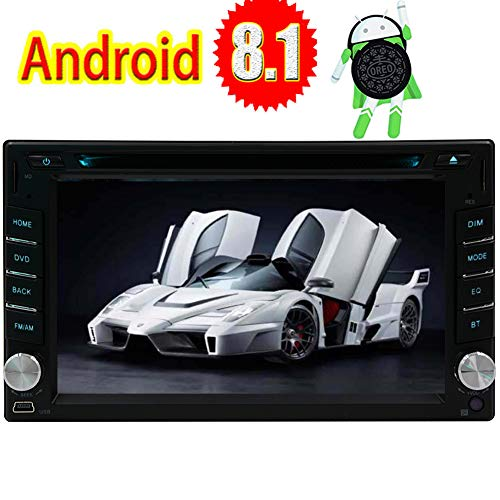 - Eincar for Universal 2 Din Car Stereo 6.2 Inch Double Din Quad Core Latest Android 8.1 1GB RAM 16GB ROM in Dash GPS Navigation Auto Radio DVD MP5 Player Support Bluetooth WiFi FM/AM/RDS CAM-in