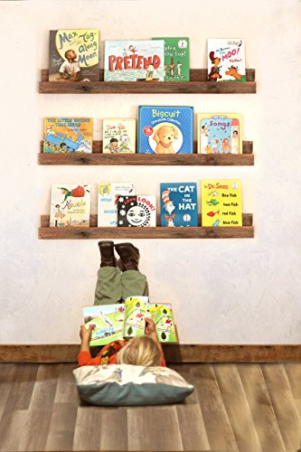 Bookshelf (single) for Kid's Books made from reclaimed wood