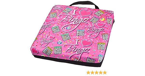 I Love Bingo Pink Pattern Double Cushion