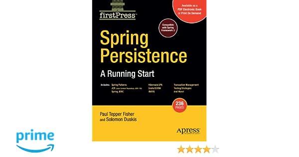 spring persistence a running start fisher mark duskis solomon