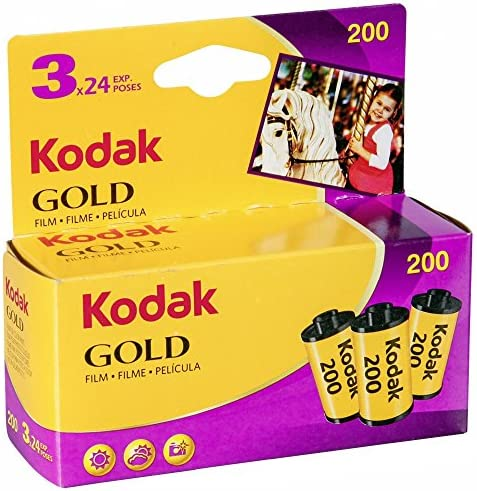 Kodak 6033971 Gold 200 Film 3 Rollen 24 Kamera