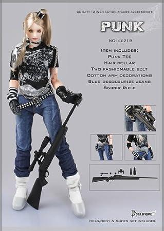 0c08b20406da3 パンク スナイパー 女性衣装 Artcreator BM 1 6 Action Figure Female Punk Sniper Clothing  Set cc219