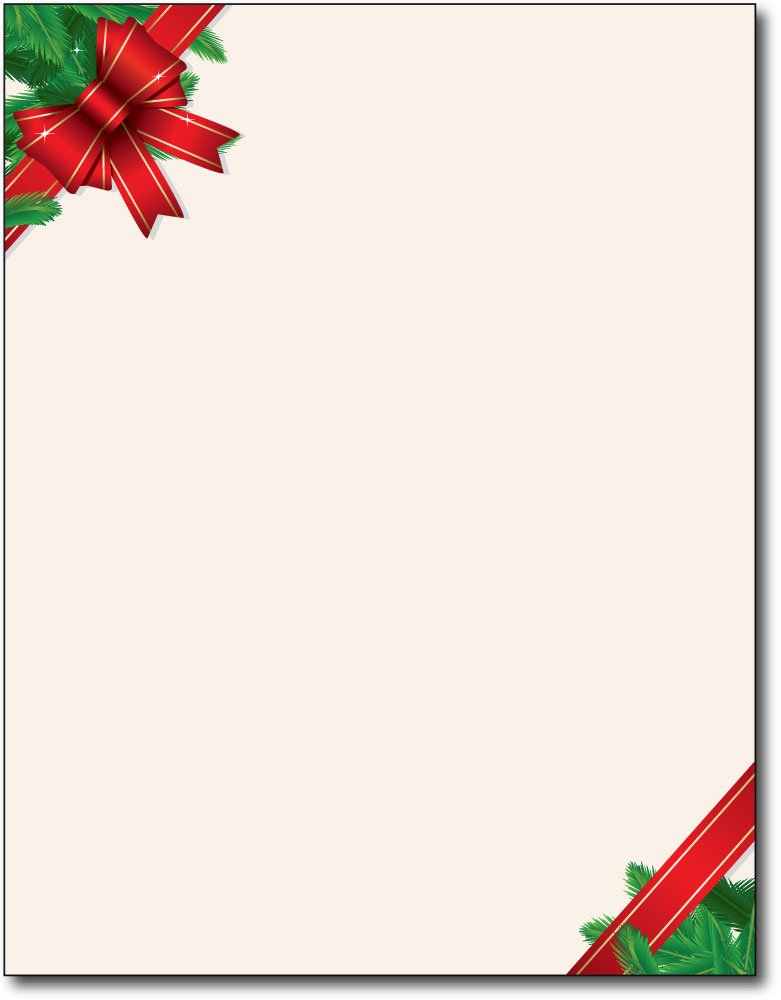 Red Christmas Bow Holiday Paper - 80 Sheets