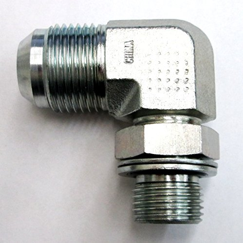 AF 9059-06-04-3/8 Male JIC (9/16-18 Threads) X 1/4 Male BSPP (.520-19 Threads) 90 With O-Ring