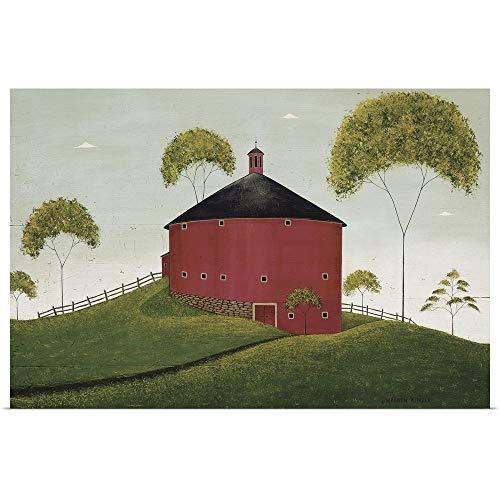 GREATBIGCANVAS Poster Print Entitled Shelburne Barn by Warren Kimble 48