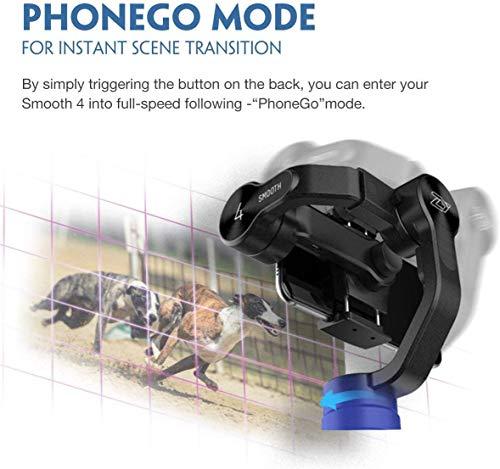 Zhiyun Smooth 4 3-assi stabilizzatore di cardano compatibile, Vertigo Shoot Focus Phonego Mode Focus Pull & Zoom… 6 spesavip
