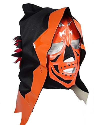 La Parka Costumes (LA PARKA Lucha Libre Wrestling Mask (pro-fit) Costume Wear - Orange)