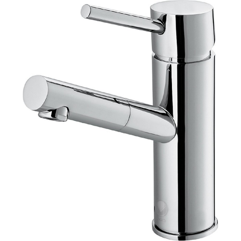 VIGO VG01009CH Noma Modern Bathroom Faucet, Single-Hole Deck-Mount Lavatory Faucet with Plated Seven Layer Polished Chrome Finish