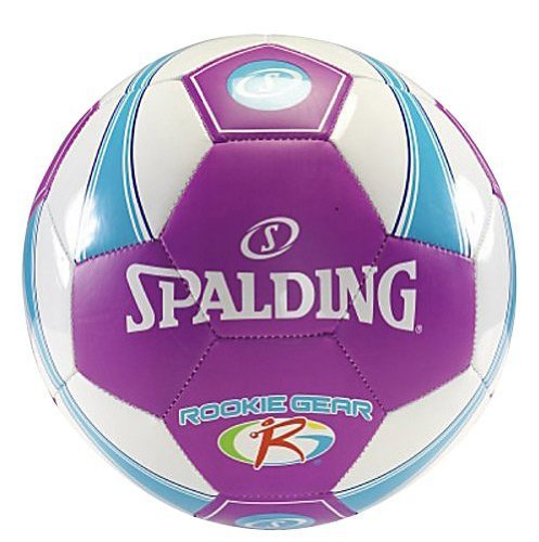 Spalding Rookie Gear Soccer Ball - Purple/Blue - Bulk Inflate Size 3