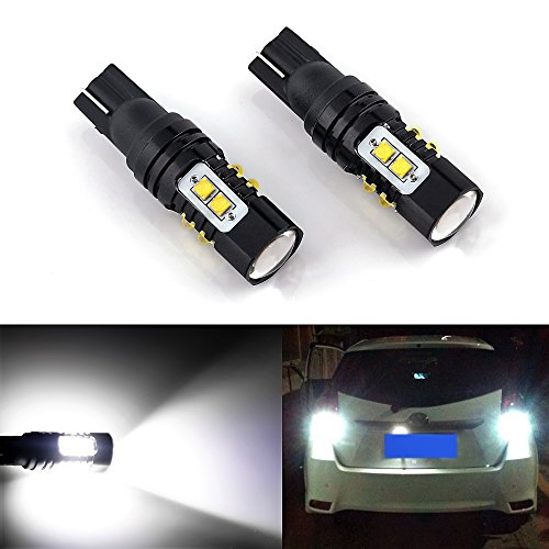 GBAuto WD-02-01 3156//3157//4157 1400 Lumens Super Bright Low Power 3156 3157 3057 4157 LED Bulbs with Projector Replacement for Back Up Reverse Tail Brake Lights,6500K Xenon White 2 Pack