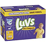 Luvs Ultra Leakguards Disposable Baby Diapers, Size 5, 148 Count, ONE MONTH SUPPLY