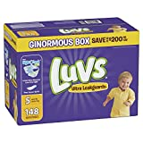 Baby : Luvs Ultra Leakguards Disposable Diapers, Size 5, 148 Count, ONE MONTH SUPPLY