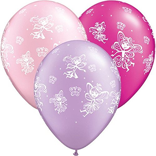 - Fairies & Butterflies Qualatex 11 inch Latex Balloons (Pink & Lilac, 5 Pack)