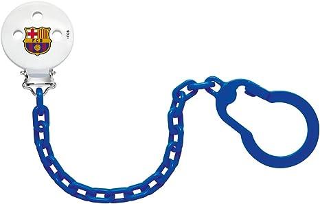 NUK 181749.5, Cadena Sujeta Chupete del Barça para Bebé, Plástico, con Clip Metálico, Color Azul: Amazon.es: Bebé