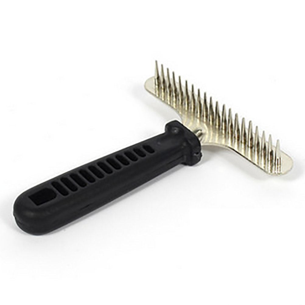 DAN Dog Rake Deshedding Dematting Brush Comb - Undercoat Rake for Dogs, Cats, Rabbits, Matted, Short Or Long Hair Coats - Brush for Sheddin