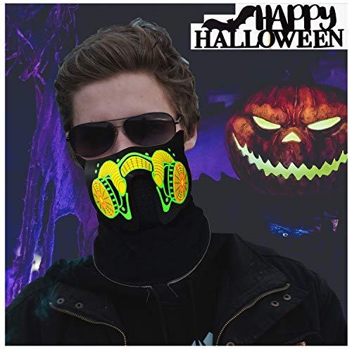LED Halloween Rave Mask Sound Active Flashing Light Up Luminous Party Cool Mask