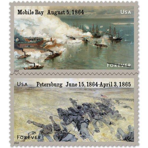 The Civil War: 1864 Sheet 12 Forever Stamps Scott 4910-11 by (Civil War Sheet)