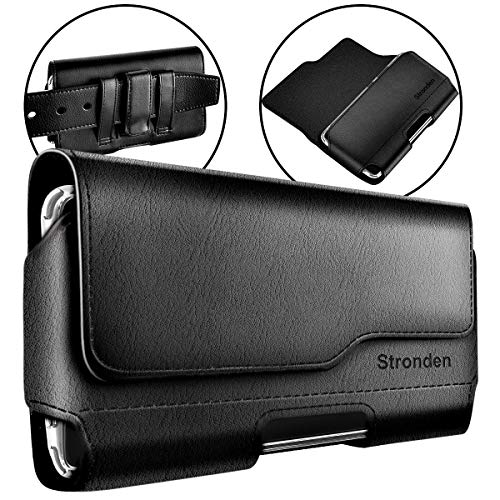 Stronden iPhone 8 iPhone 6S 7 Belt Case with Clip, Apple iPhone 8 Leather Belt Clip Case Holster Pouch Sleeve Flip Cover Cell Phone Holder (for iPhone 7 iPhone 8 with Otterbox Lifeproof Battery Case) (Iphone Holster With Belt Clip)