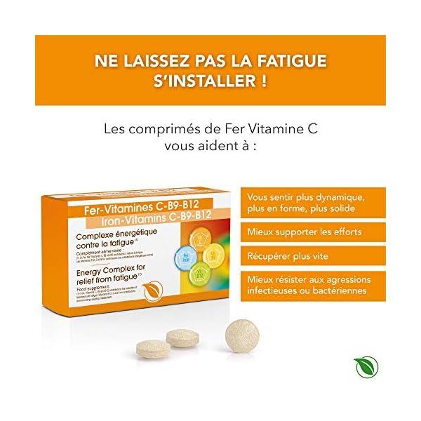 Complexe Fer – Vitamine C + Vitamine B12 I Antioxydant I Anti-Fatigue I Multi-Vitamines I Meilleure Résistance aux…