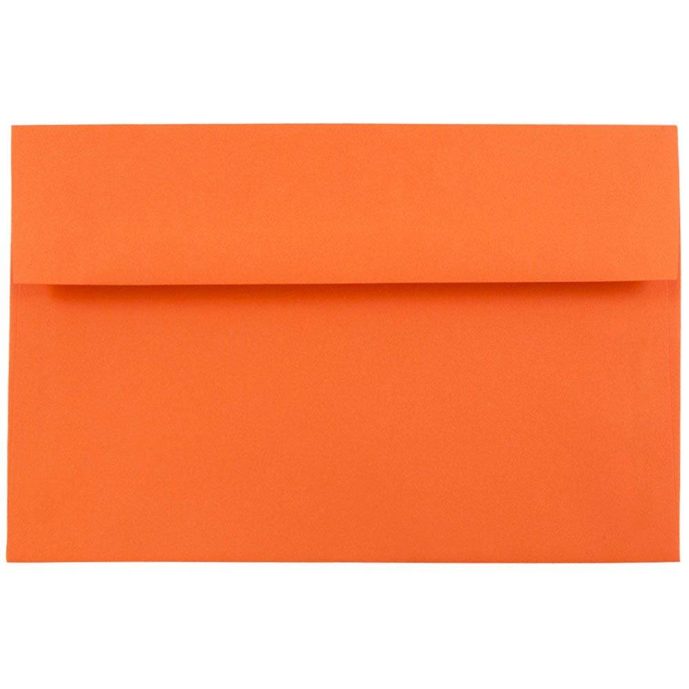 JAM Paper - A8 (5 1/2 x 8 1/8) Brite Hue Orange Recycled Paper ...