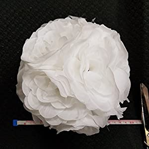 "10 PCS HOT SELL Colorful High ,Quality 15-40CM Rose Pomander Flower Kissing Ball Color:Silver Size:Diameter:20cm 7.8"" 2"