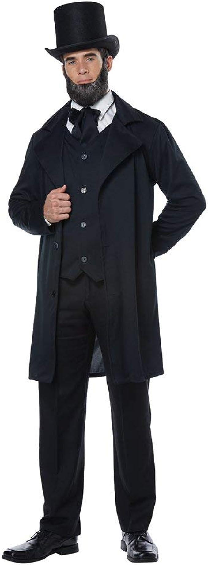 Victorian Men's Costumes: Mad Hatter, Rhet Butler, Willy Wonka Adult Abraham Lincoln Costume $55.50 AT vintagedancer.com