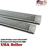 50PACK led T8 Integrated V shape tube light AC100-277V 4ft 24W 120leds SMD2835 5700K (white) with clear cover tube lamp T8 TUBE BULBS LIGHT