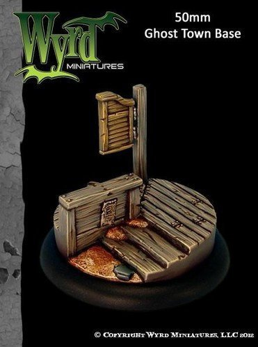 Wyrd Miniatures 50mm Ghost Town Bases Model Kit 4