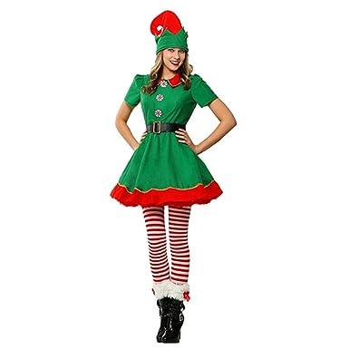 Elton Disfraz de Duende navideño para niño y Adulto Vestido de ...