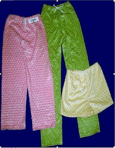 Ladies Super Soft Minky Dot Shorts and Capris and Pants in Solid Colors by Love and ()