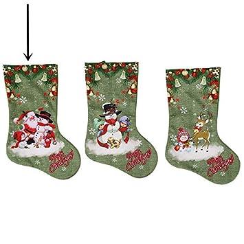 Top Shishang 1pcs de Lujo Bordado a Mano Personalizado Mezclado Yute Retro Grandes Medias de Navidad Verde, Verde, Grandes Calcetines Viejo Hombre: ...