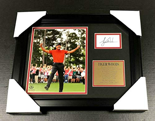 - TIGER WOODS 2019 MASTERS Facsimile Autographed REPRINT Framed 8x10 Photo