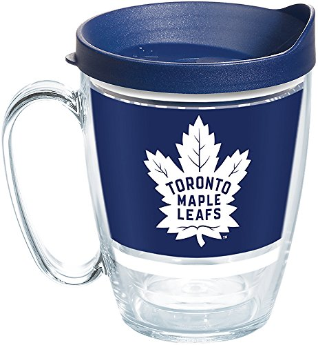 Tervis 1259633 NHL Toronto Maple Leafs Legend Insulated Tumbler with Wrap and Navy Lid, 16oz Mug, Clear