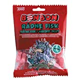 Toms BonBon Rotten Fish / Rådne Fisk (Red Fish) - Licorice Salmiak (Salmiakki) Caramel Hard Candy Bag (Denmark)