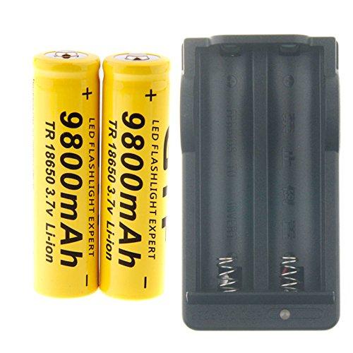EastVita GTF 3.7V 18650 Led Flashlight 9800mAh Li-ion Rechargeable Battery Charger