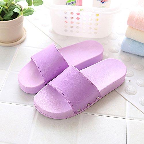 casa Estilo antideslizante de zapatillas parejas El piscina En verano el Morado4 verano baño DogHaccd la encantador coreano suave ducha Zapatillas zapatillas minimalista hembra playa xqv6Opa