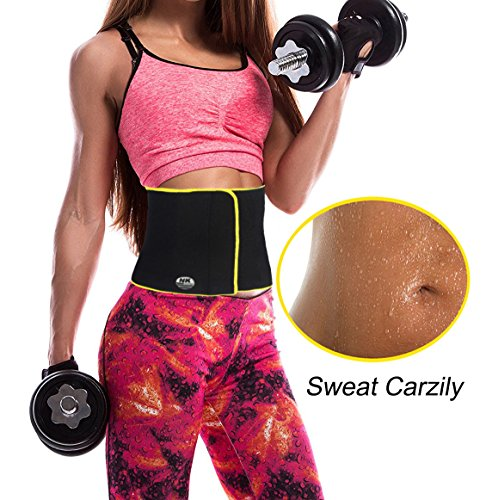 b33e4d8fd4 DODOING Waist Trimmer Weight Loss Belt Sauna Sweat Waist Trainer Workout  Sweat Enhancer Exercise Adjustable Tummy Control Wraps  Amazon.co.uk   Sports   ...