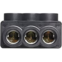 Morris Products 97633 Multi-Cable Connector, Insulated, Dual Entry, Black, 3 Ports, 2/0 - 14 Wire Range, 7/32 Allen Hex 3 Ports, 2/0 - 14 Wire Range, 7/32 Allen Hex