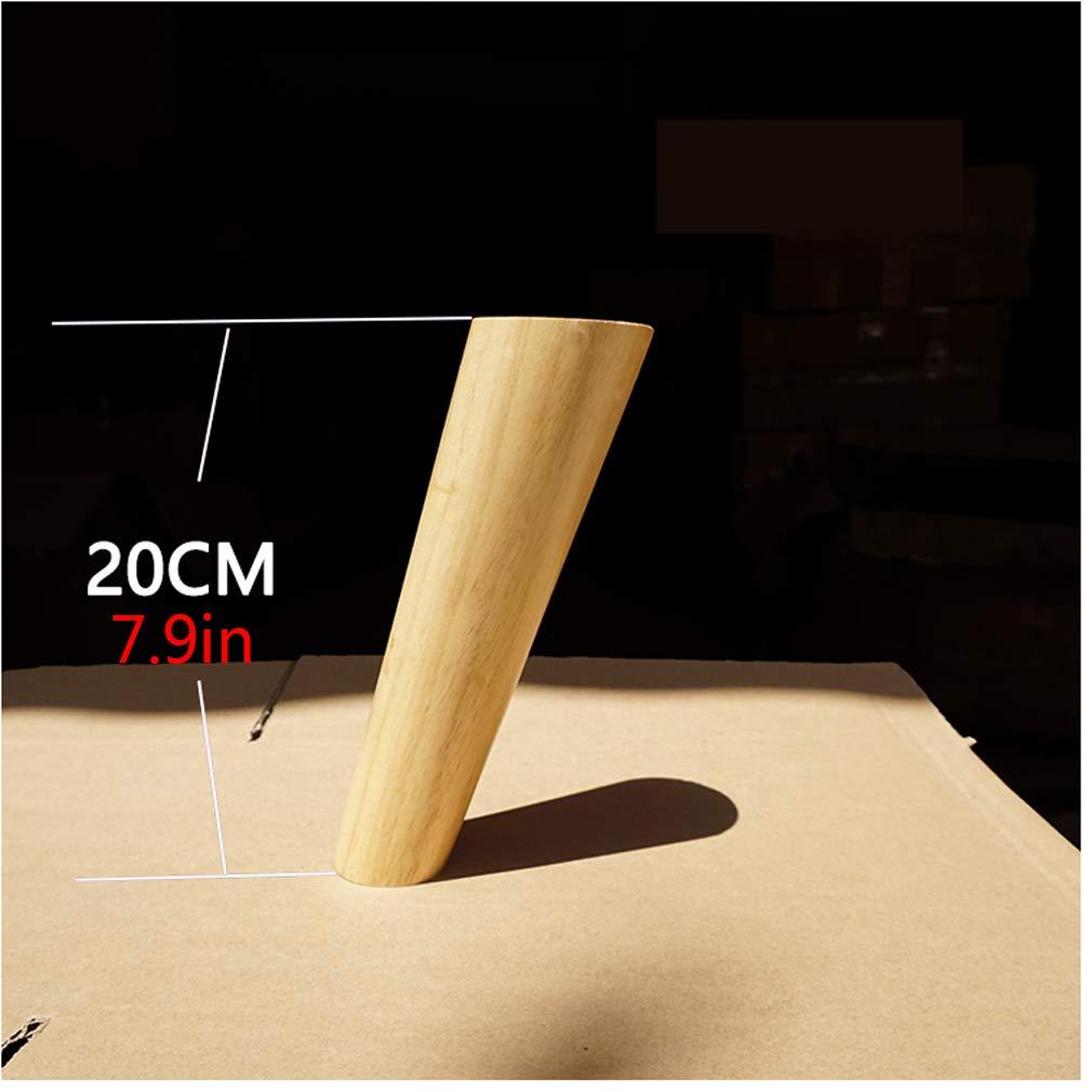 Wood color,3.9in Madera Maciza Roble Patas de Muebles,Patas de Sof/á,para Mesa de T/é TV Gabinete C/ónico Patas de Gabinete,Juego de 4,400kg//882lb,con Tornillos 10cm