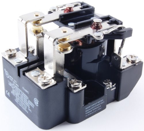 NTE Electronics R04-11A30-240 Series R4 General Purpose Multicontact AC Open Frame Relay, Heavy Duty, DPDT Contact Arrangement, 30 Amp, 240 - 30 Relay Amp Power