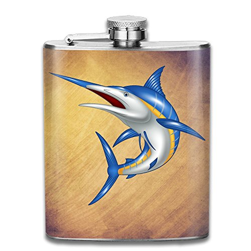 - JIUHUBX Marlin Fish Stainless Steel Liquor Flagon Retro Pocket Flask\Stainless Steel Travel Flask Great Little Gift,Safe And Nontoxic